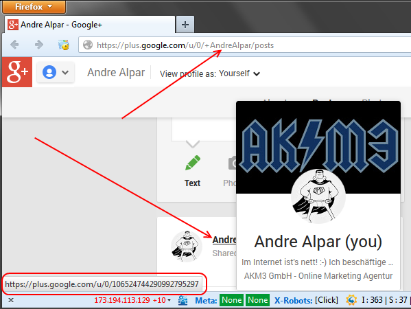 googleplus-interne-verlinkung