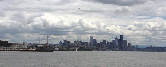 Seattle in Wolken bei der SMX