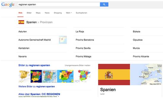 Spanien Search Regionen SEO