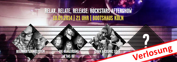 Online Marketing Rockstars Ticket Verlosung Aftershow Party dmexco