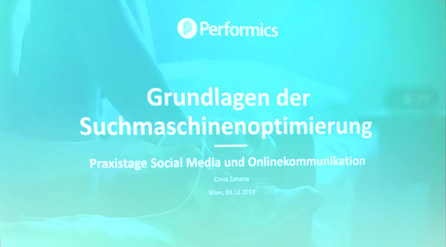 All about SEO basics: Performics bei den SCM Praxistagen