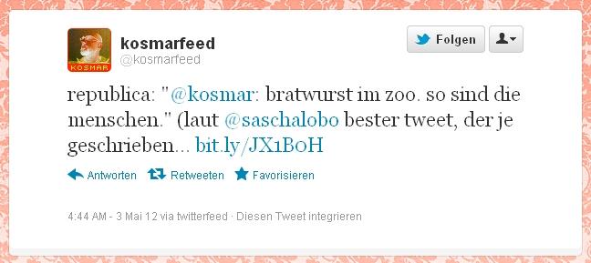 Republica 2012 Tweet